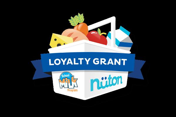 Nüton and School Milk Program Loyalty Grant Logo