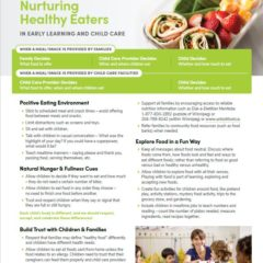 Nurturing Healthy Eaters in Early Learning and Child Care
