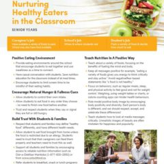 Nurturing Healthy Eaters in the Classroom – Senior Years